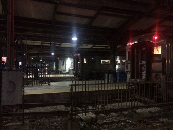 Train Station Train Tracks Trains Darkness And Light Signal Lamp
