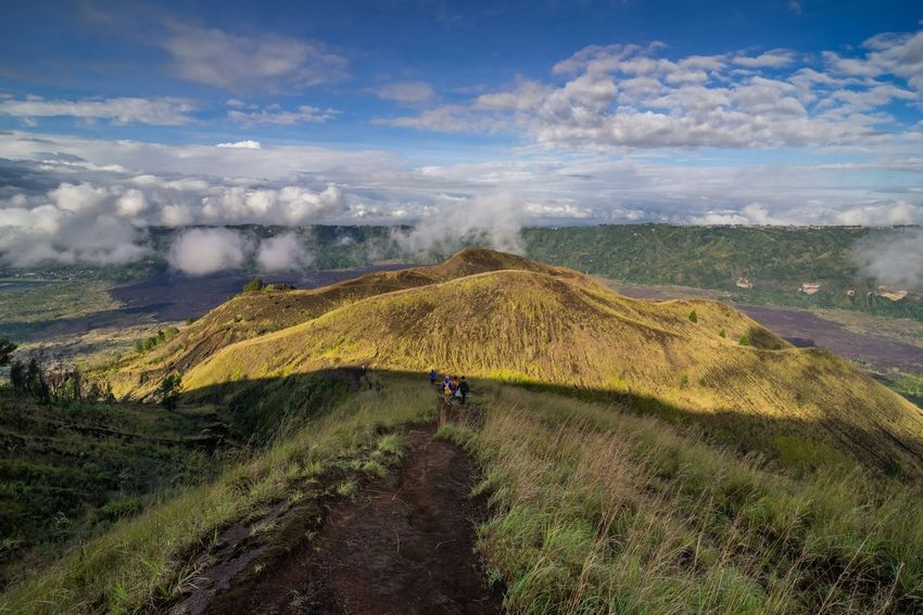 batur volcano Bali Batur Hiking Beauty In Nature Cloud - Sky Day Hiker Lake Landscape Mammal Men Mountain Mountain Range Nature One Man Only One Person Outdoors People Physical Geography Real People Scenics Sky Tranquil Scene Travel Destinations Volcanic Landscape Volcano