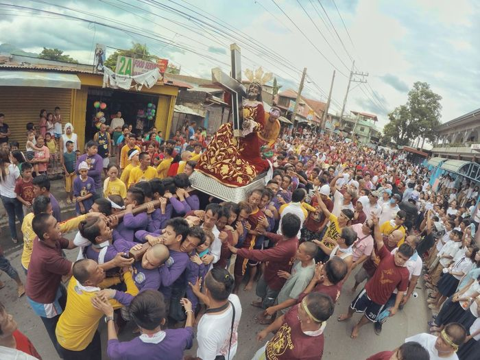 Nazarene Religion Religous Icons Faith Love Procession Black Nazarene Nazarene Christ Jesus Catholic Church Christianity Devotion Sweat Sacrifice Crowd Men Togetherness Women Arts Culture And Entertainment Celebration Traditional Dancing Traditional Festival Enjoyment Fun Catholicism Place Of Worship Spirituality Cross Parade