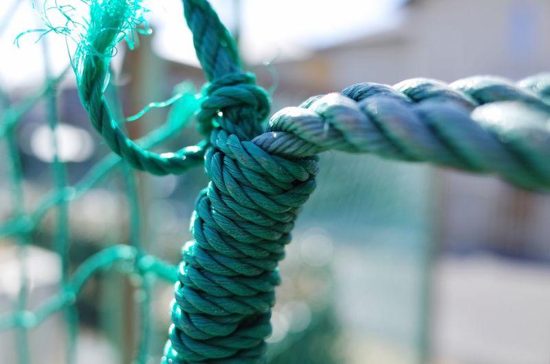 Close-up of nylon rope