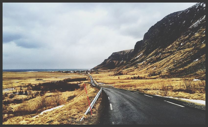 Norway The Way Forward Nature Endless Road Travel Photography Outdoor