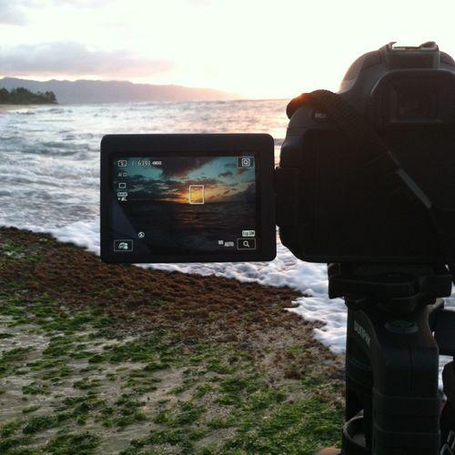 Sunset Canon Ocean Hawaii North Shore Laniakea