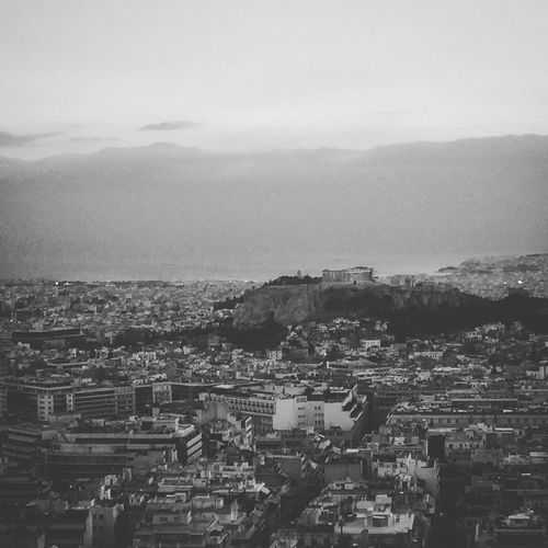 Acropolis Acropolis, Athens Athens, Greece Balck And White Iphoneonly IPhoneography Inspired Inspirational Cityscape Athens City View From Lycabetus