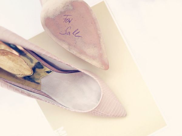 Close-up No People Indoors  Handwriting  Font For Sale Fashion Lieblingsteil Fashion&love&beauty Still Life High Heels Lifestyles Beauty Shoe White Album Only For Women Pink Pastel Pastel Colors White Background Text Pair Only Women Details Of My Life Day