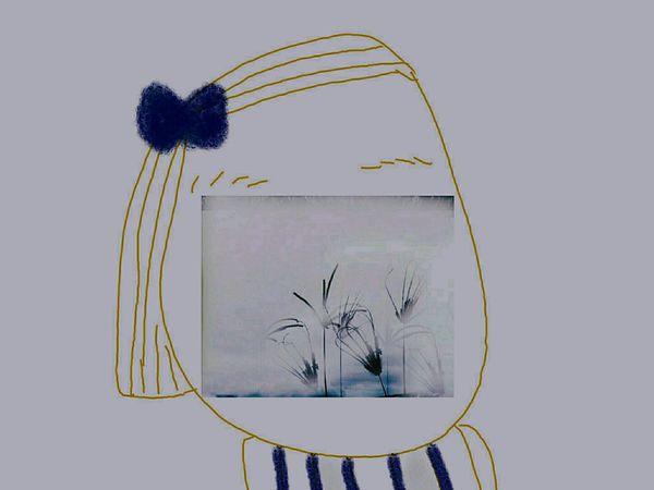 我們都是風景~Cool Colors Landscape My Paintings My Shootings My Style Lowkey  Blue And Gray Blue Ribbon Drawing Art