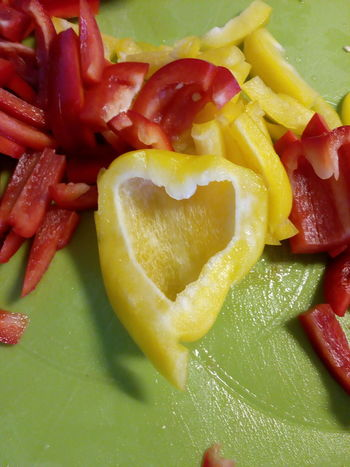 Yellow pepper or Yellow Heart? Yellow Pepper Yellow Heart Peppers Kitchen Red Food And Drink