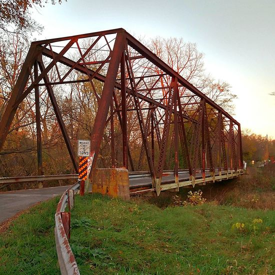 Bridge - Man Made Structure Built Structure Bridge Metal Bridge Tree Growth Sky No People Outdoors Day Scenics