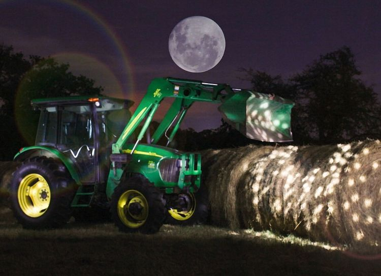 EyeEm Edits Masters_of_darkness Sky_collection John Deere moon, tractor
