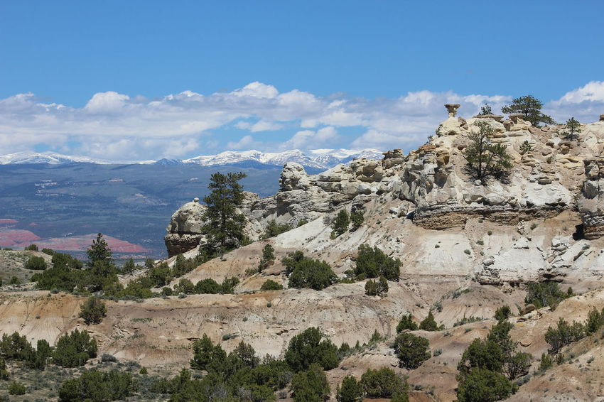 Bighorn Mountains Wyoming Wyoming Landscape Rock Rock Formation Distant Background