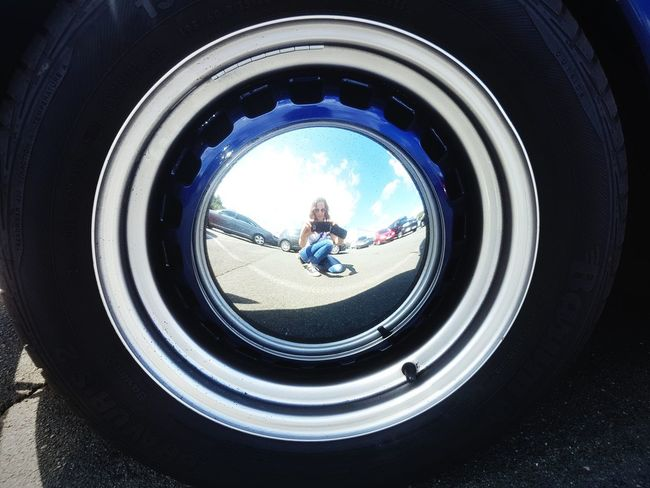 People Tire Cartire Reflection Reflection_collection Reflections Of Myself Reflection On Car