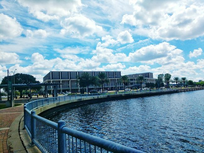 Lake Charles Civic Center. City Architecture Modern Cloud - Sky Outdoors Cityscape Horizontal City Life Building Exterior No People Lake Charles