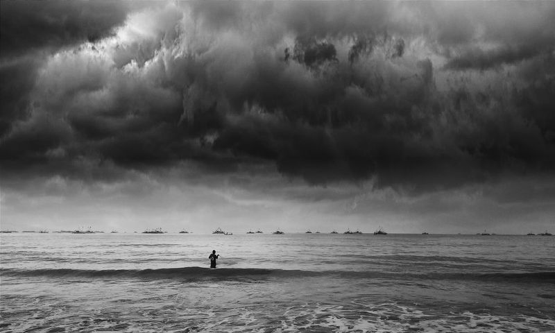 Everyday Lives Enjoying Life Multiple Layers Hello World Man vs Storm