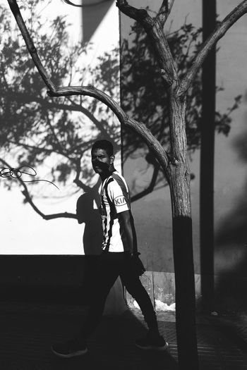 Chiaroscuro. Vscox Outdoors Standing Only Men Adults Only Two People Full Length Day Tree Real People Adult Lifestyles Young Adult People Men Portrait Sky Black And White Friday