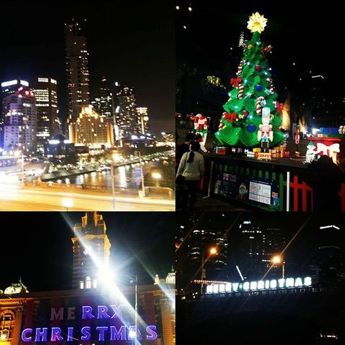Christmas Decorations in Melbourne Victoria Australia Oz Downunder Christmastree Federationsquare Southbank Yarrariver Yarra Crewlifestyle Crewlife Layover Nightlife Melbournecbd