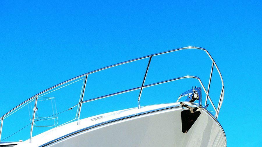 Ship's Bow Against Clear Sky