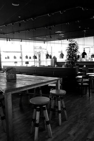 Table Chair Restaurant Cafe Bar - Drink Establishment No People Indoors  Before Opening Coffee House Blackandwhite Photography Coffee Time Espresso House