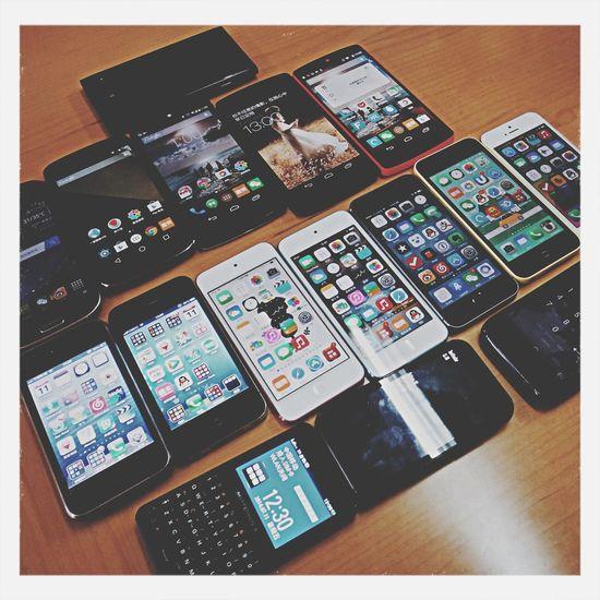 好多手机~