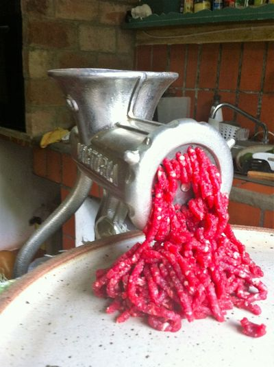 Day Fresh Meat Gourmet Gourmet Cooking Gourmet Food Ground Meat Healthy Eating Indoors  Kitchen Utensils Meat Meat Grinder No People Red