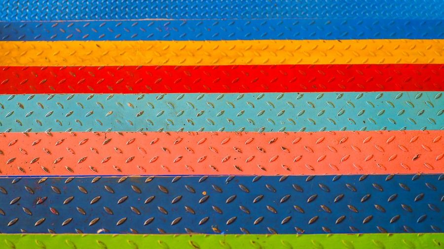 Pattern Backgrounds Full Frame No People Blue Close-up Day Textured  Shape Repetition Design Multi Colored Roof Textile Metal Outdoors Nature Flooring Yellow Roof Tile