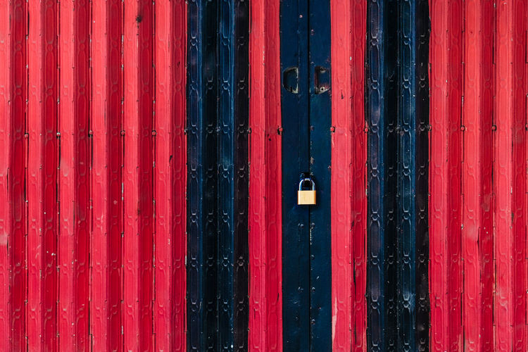 Full Frame Shot Of Red Wooden Door