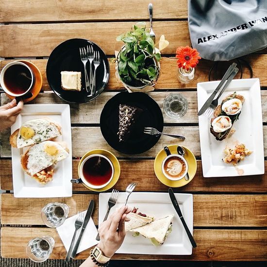brunch Coffee - Drink Food And Drink Coffee Cup Table High Angle View Plate Breakfast Indoors  Drink Flatlay Alexanderwangxhm EyeEm Selects EyeEmNewHere Food Stories