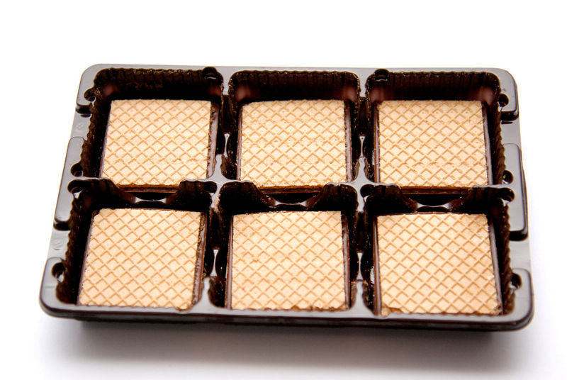 Bisquits Chocolate Close-up Food No People Sweet Food Waffer Wafle White Background