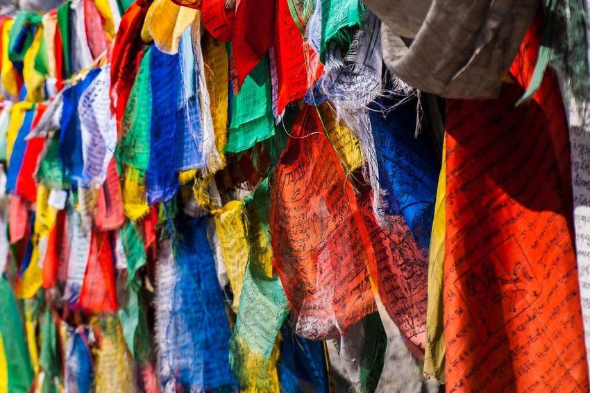 Prayer Flags, Leh, India. Colour Of Life Prayer Flags  Colour Religion Flags India Leh