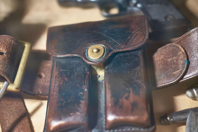 Close-up of leather belt
