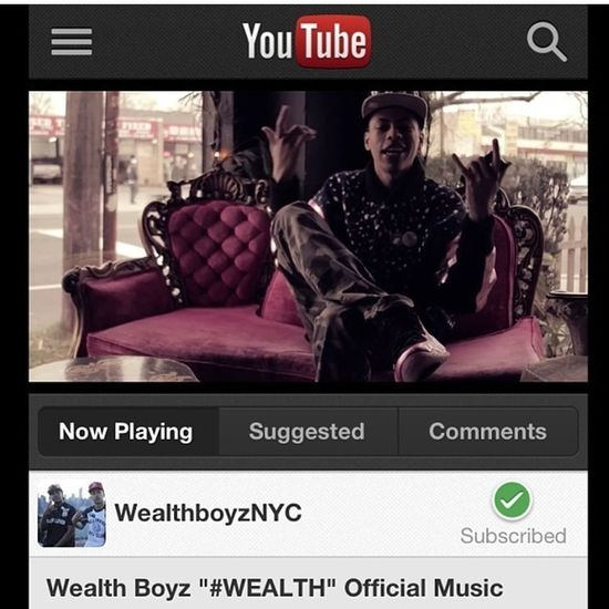 New Music Video By The Wealth Boyz On Youtube Now!!! #Wealth! #WealthKlub
