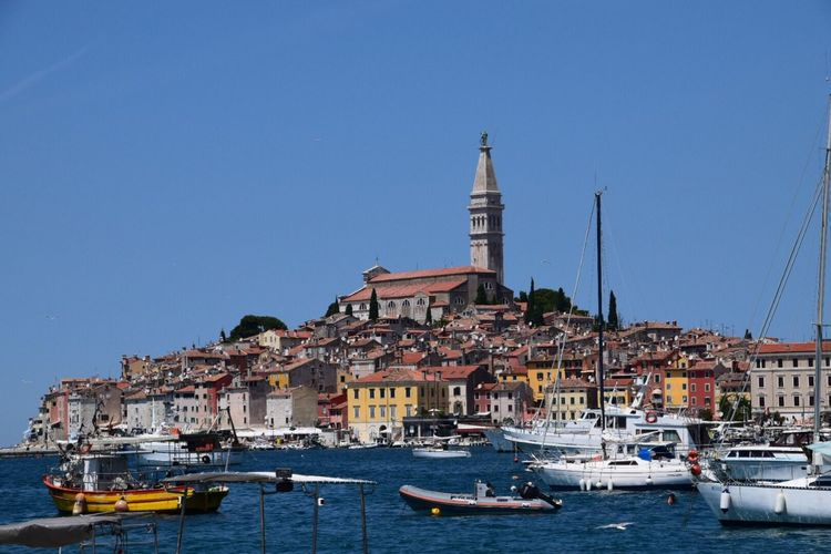 Life Croatia No Filter Harbour View Boats Sea And Sky Rovinj Beer By The Sea