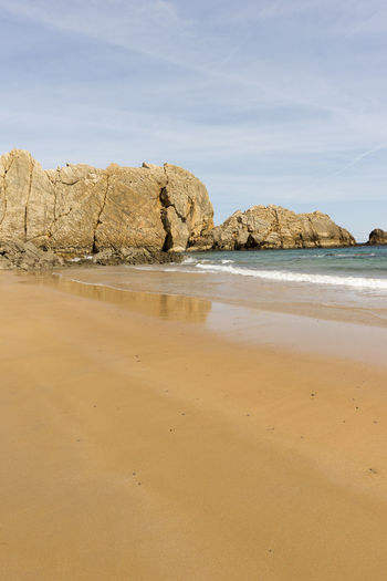 Cantabria Arnia Beach Beauty In Nature Coast Day Landscape Nature No People Ocean Outdoors Rock - Object Sand Scenics Sea Sky Tranquil Scene Tranquility Water