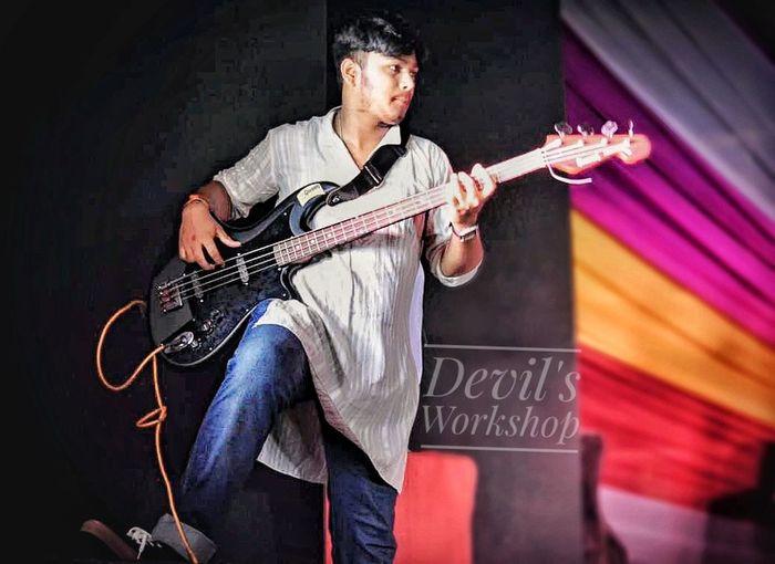 Budding Artist Candid Music Guitar Effects