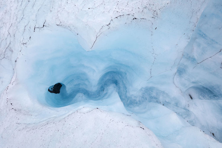 Aerial View Of Frozen Water