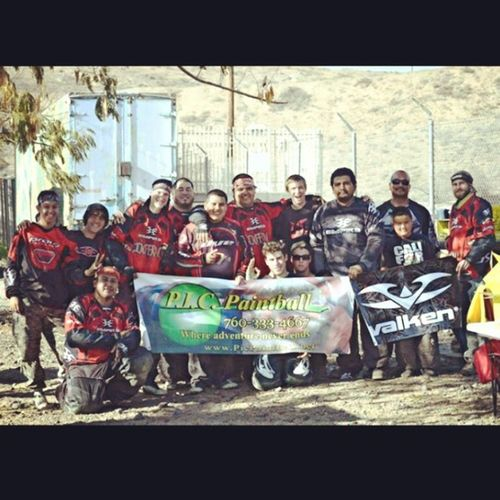We are inferno! First to many, and even though we didn't win we played as a team and with heart. 1forallandallfor1 Inferno Mybrothers Valken paintball