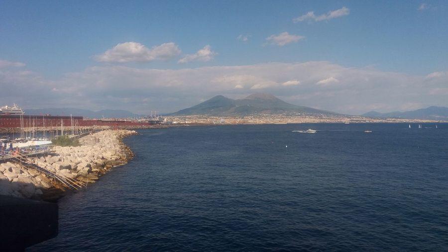 Naples Vesuvius Sea Blue Sky outdoor Waterfront Tranquil Scene