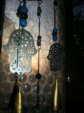 After Dark Art Studio Creative Spaces Plastic Bubble Wrap Shadows Silhouettes Closeup Wind Chimes