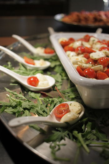Fats Green Herbs Red Spoon Bowl Carbohydrates Carbs Cheese Close-up Eating Out Food Food And Drink Fresh Freshness Healthy Eating Hotel Food Italian No People Olive Oil Ready-to-eat Spice Tomato Tomatoes Vegetable