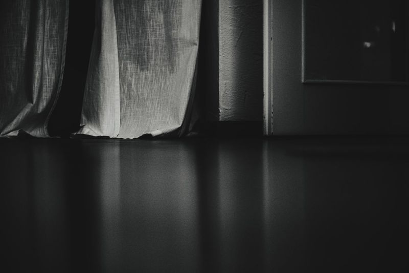 Surface level of curtain at home