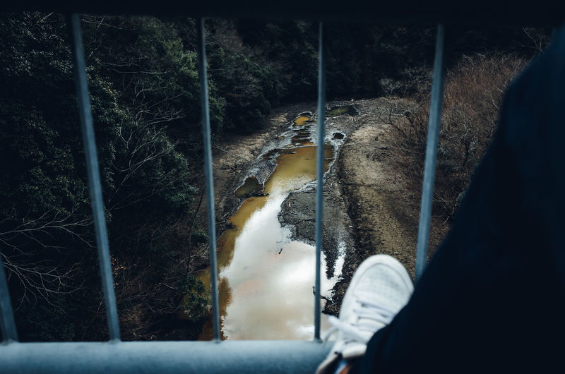 Exploring Bridge - Man Made Structure Shoes Legs Footscapes Change Your Perspective Exceptional Normalcy Man River High Angle View Riverside Countryside Travel Travel Destinations Japan POV Personal Perspective Forest Mountain Tranquility Rebel Abstract Cinematic Animal Themes Animal Vertebrate Tree One Animal Mammal Animal Wildlife Plant Nature Animals In The Wild No People Day Transportation Outdoors Land Pets Bird My Best Photo