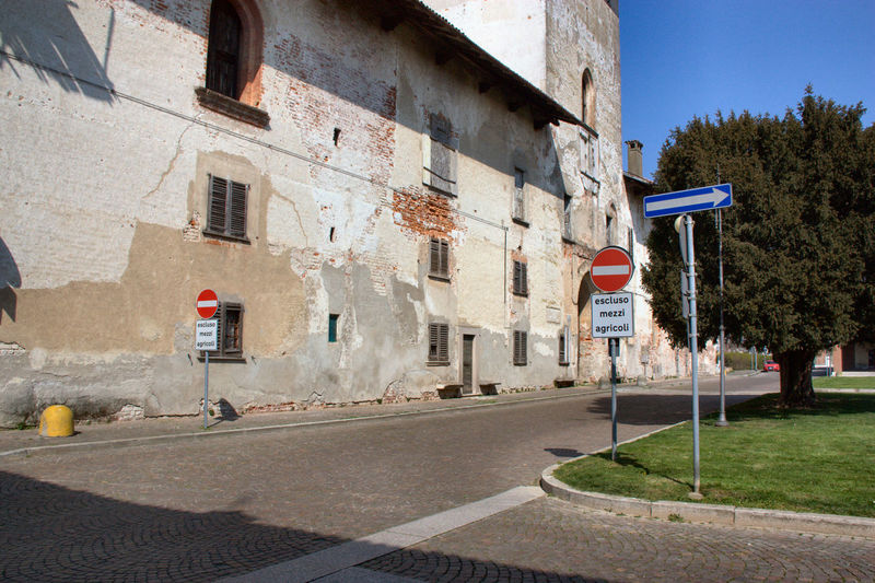 Road signs by visconti castle