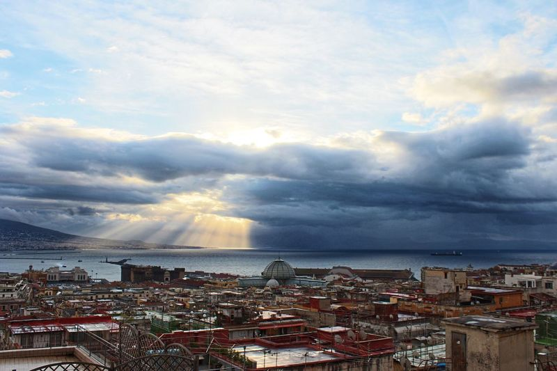 Landscape of Naples Cloud - Sky Cityscape Horizon Over Water Sky Sea Architecture EyeEmNewHere