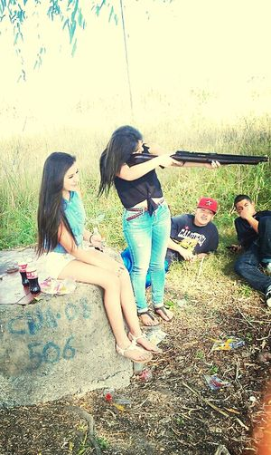 shooting it up !(: haha