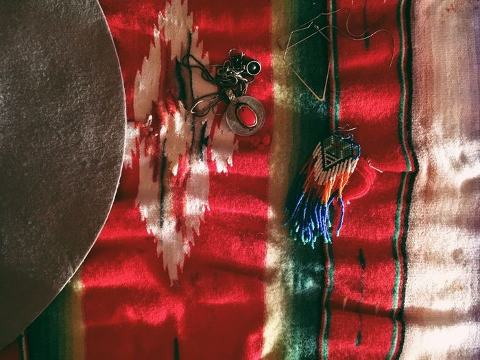 Red Indoors  Shadow No People Close-up Day Jewelry Mexican Colorful Textile Bohemian Travel