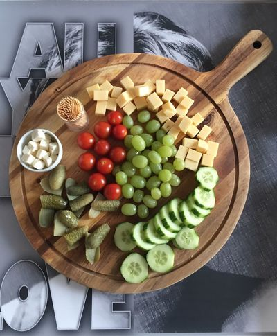 Healthy snacks.... Feta Cheese Food Foodphotography Eating EyeEmpictures Eyeemphotography Eye4photography  Wood Cucumber Pickle Healthy Eating Finger Food Snack Time! Food Food And Drink Healthy Eating Fruit Wellbeing Freshness Vegetable Still Life High Angle View Table Kitchen Utensil Grape Cheese Cutting Board Tomato