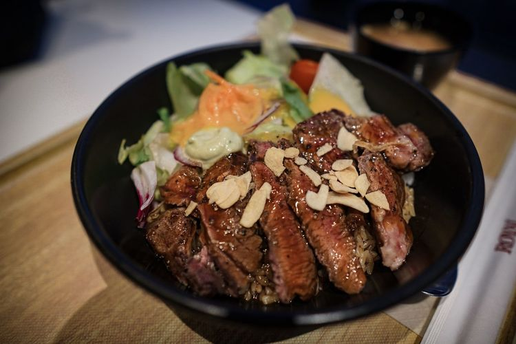 Beef salad in