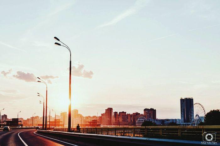 Казань, закат 😊City Cloud - Sky Travel Destinations Kazan Streetphotography Street Teamfuji фотограф Россия Fuji Russia Fujifilm Midifoto Vscocam VSCO Photographer альметьевск Закат Sunset Road Roadtrip