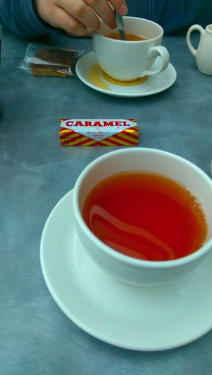 Biscuit British Caramelwafer Cup Outdoors Plate Scotland Tea