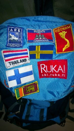 Travel Backpack Patch Flag Flag Patch