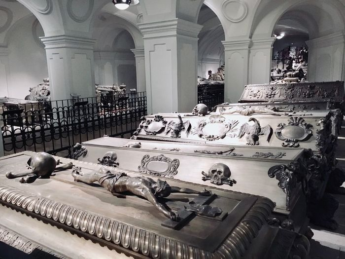Habsburg Imperial Crypt Imperial Imperial Family Tomb Burial Place Burial Chamber Burial Elaborate Crypt Habsburg Imperial Crypt Habsburg Vienna Austria Vienna, Austria Vienna_city Vienna Architecture No People Arch Architectural Column Religion History The Past