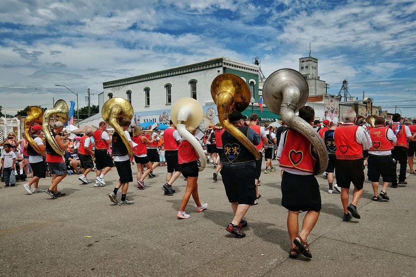 Czech Festival Marching Band Sousaphone Polka Small Town USA Czechpeople